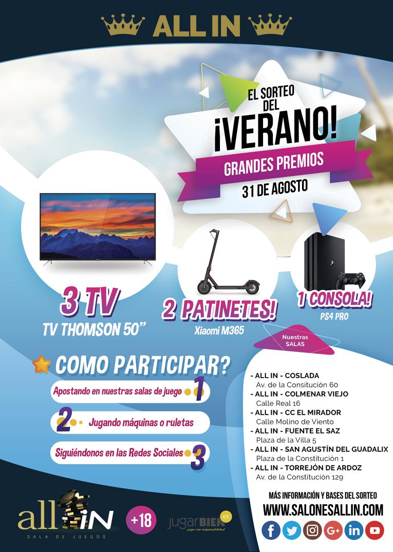 Sorteo TV, Patinetes y PS4 PRO